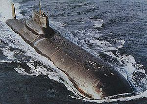 The Russin Typhoon, the largest submarine ever built