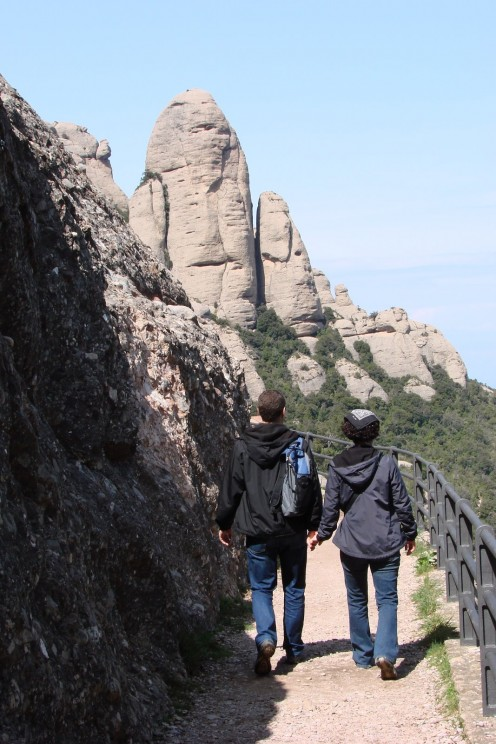 Explore the winding and meandering paths along the Montserrat mountaintops.