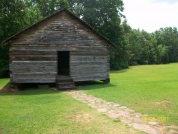 Shiloh Battlefield was named after this peaceful, small log Methodist church, known as the Shiloh Meeting House.