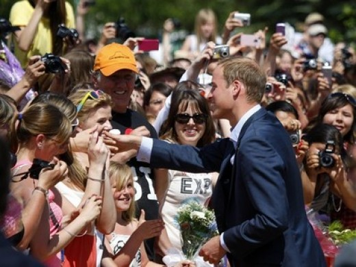 The Duke greets admirers in Slave Lake