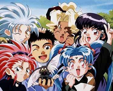 That cute thing in Tenchi's hand? It used to be a demon pirate spaceship.