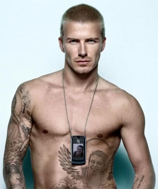 David Beckham buzz haircut.
