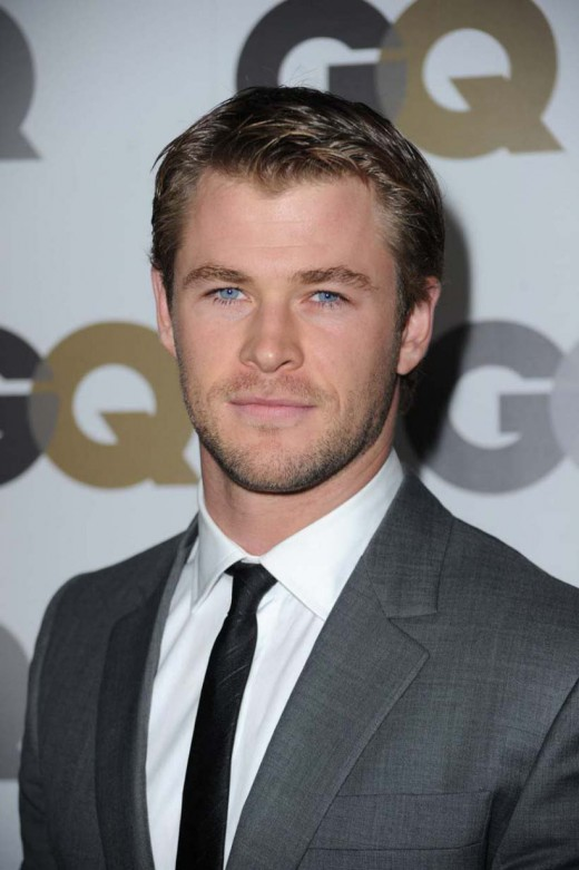 Chris Hemsworth formal hairstyle.