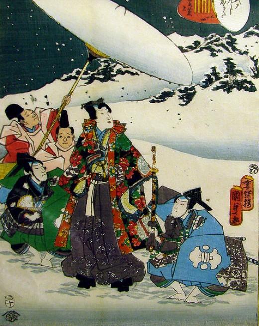An illustration of Genji from 'Genji Monogatari', or 'The Tale of Genji'.