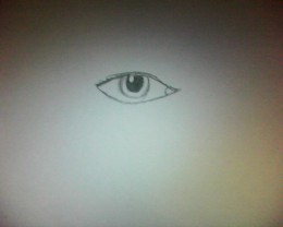 An eye drawing.