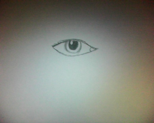 An eye drawing.