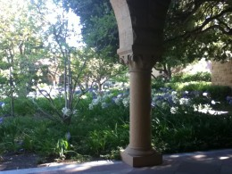 In the spring and summer, flowers are abundant around the quad, transforming the many seating areas into small, calming oases.