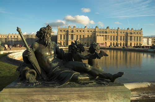 Another view of the back of the Palace at Versailles