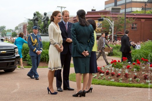 The Duke and Duchess arrive at the Province House in Charlottetown, PEI