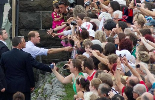 The Duke greets fans at Fort Levis in Quebec City, Quebec