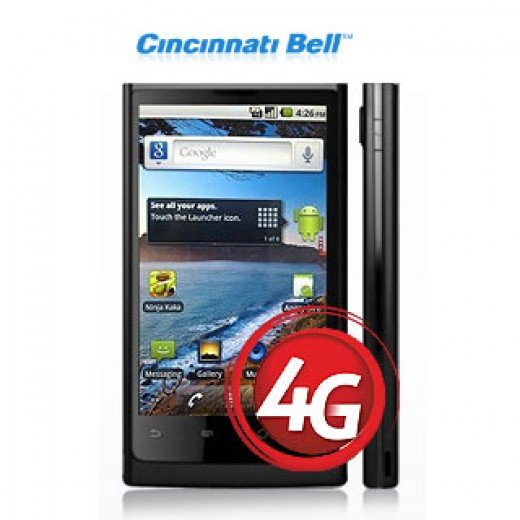 "Huawei Ascend X 4G, an HSPA+14 ""4G"" phone for Cincinnatti Bell"