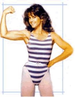 Jane Fonda in the early 80's:  Look how the thighs have changed
