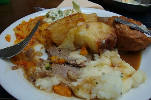 Food could have been better: The Sunday roast was mediocre at best