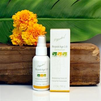 RepairAge lotion - moisturizing face cream w/ herbal extracts for more youthful appearance.