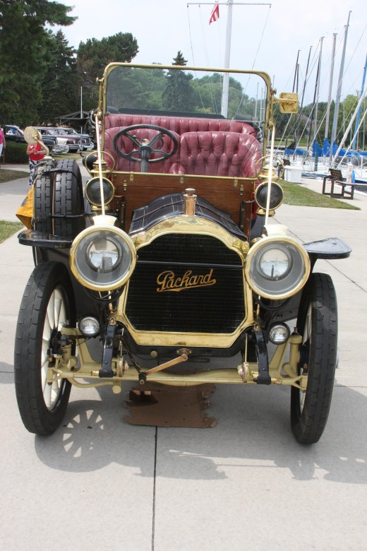 1908 Packard Touring Car drove to the show under its own power. It was the star of the show.