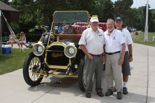 Bruce Webster, Motor City Packard President, Loren Hoffman and Paul Nuechterlein CSYC Coordinators for Packard Show