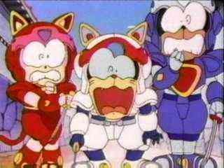 "A scene from ""Samurai Pizza Cats."" Time to call for backup? SPC is distributed by SABAN"