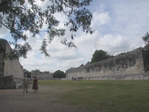Ball Court at Chichen Itza, the largest known