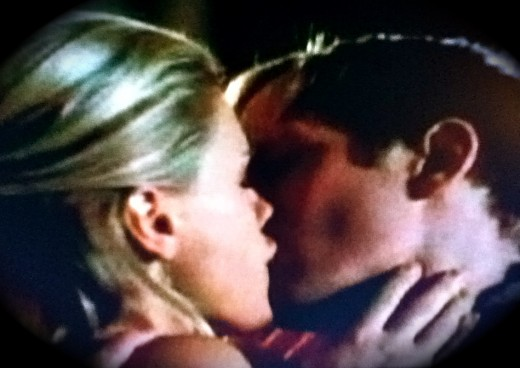 Foregoing her grandmother's advice, Sookie kisses Eric after begging him to stay.