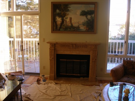 of stone fireplace mantel 2011