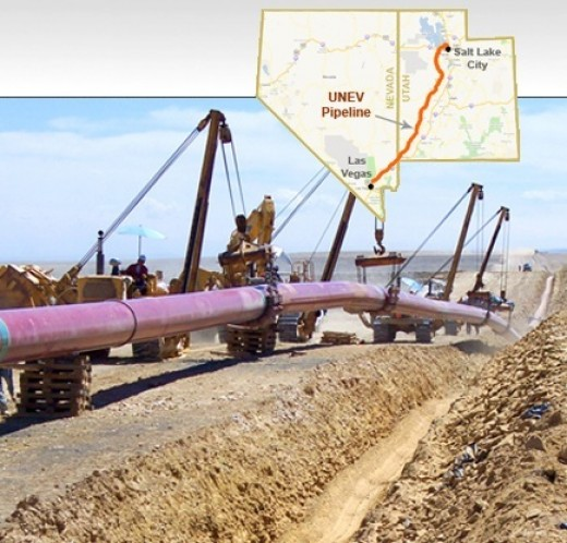 Pictured above is a map of the pipeline and actual construction of it.