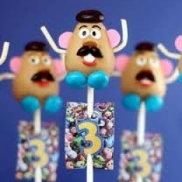 Toy Story Cake Pop Potato Head
