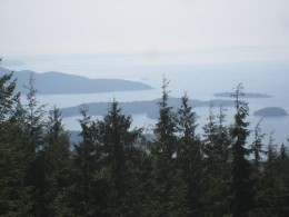 Part of the Sunshine Coast-forests, inlets and islands