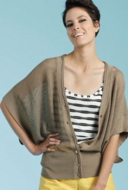 Women's coverup sweater that buttons.