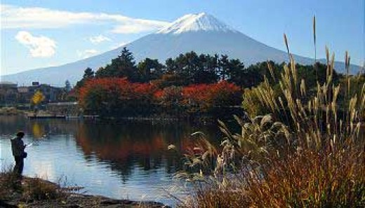 Fuji Mountain and Kawaguchi lake