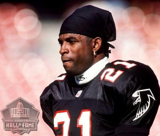 The Atlanta Falcons drafted Deion Sanders in the first round, fifth player overall, out of Florida State in the 1989 NFL Draft.