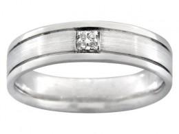 Men's Diamond White Gold Engagement Ring