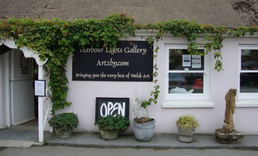 Fine: Another art gallery in Porthgain featuring work by Pembrokeshire artists