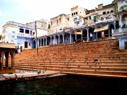 A Ghat with stairs