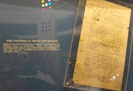 """Pro football's first """"contract."""""""