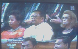Vice President Jejomar Binay as part of the audience (Photo by Travel Man)