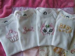 Embroidered Personalized Burp Cloths from Sew Happy Baby | Custom