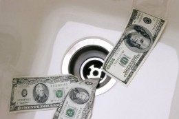 Money Going Down the Drain