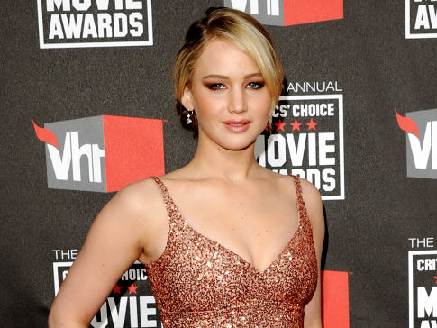 Jennifer Lawrence (who will play Katniss Everdeen in the Hunger Games trilogy) at the VH1 Movie awards.