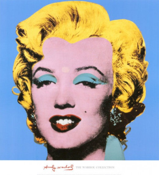 Andy Warhol's Shot Blue Marilyn- 1964