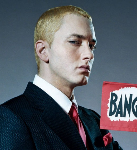 Eminem caesar cut.