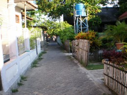 Residential area on Tidung island.