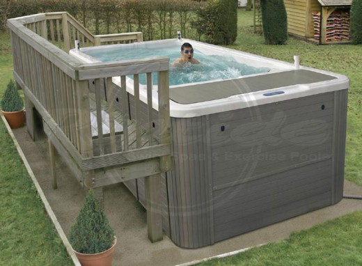 The Riptide Atlantis is a dedicated exercise pool with powerful counter-current setup