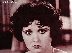 Singer Helen Kane - Inspiration for Betty Boop