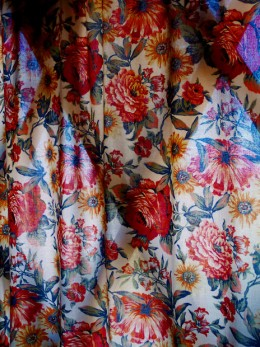 Chintz curtains are patterned curtains.