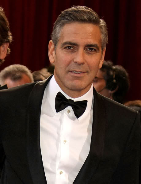 George Clooney haircut.