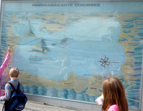 Chiemsee Panorama Map in Chiemsee, Germany