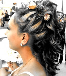 Half-Up Prom Hairstyles for Medium Hair