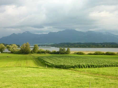 View from  Tonis Cafe, Chiemsee, Germany