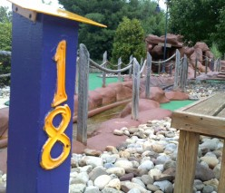 Not So Lazy Days: Mini golf provides fun for a midday family outing
