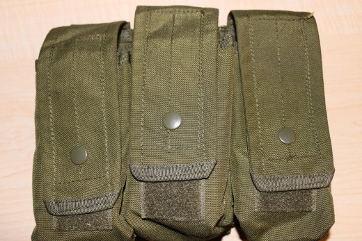 My covered triple AK magazine pouch.